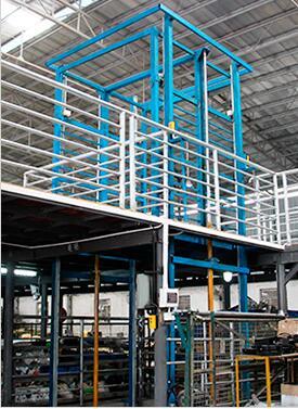 钢结构平台升降平台(导轨直顶)