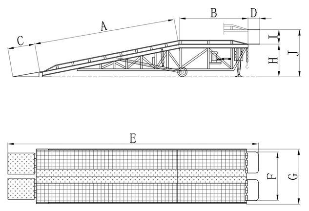 移動登車橋尺寸標注